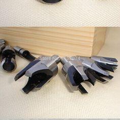"""Barato Novo Plug cortador definir acessórios para ferramentas eléctricas madeira brocas 4 peça 5/8 """" 1/2 """" 3/8 """" 1/4 """" de madeira modelo de trabalho fabricante de ferramentas de carpintaria DIY, Compro Qualidade Ponta de Broca diretamente de fornecedores da China:         MADEIRA PLUG Cortador Set 4pacote 5/8 """"1/2"""" 3/8 """"1/4""""  Acessórios para ferramentas el&e..."""