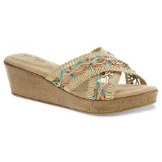 Soft Style by Hush Puppies Jerilyn Women's Macrame Wedge Sandals, Size:  medium (6