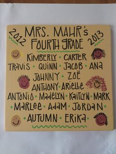 Personalized Teacher's Class Sign by zoegirlgifts on Etsy, $32.00