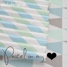 http://partydesign.no #love #pastel #green #blue #retro #partydesign #paperstraws #papirsugerør #sugerør #lovely #heart #sweet