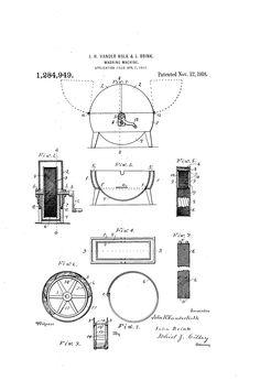 Patent US1284949 - Washing-machine. - Google Patents