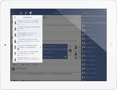 Facebook - iOS7 Redesign by Michael Shanks, via Behance