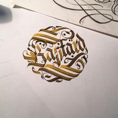 """""""Mamy tu jakiegoś chętnego na ten wzór BASTARDA?! #wlk #calligraphy #calligraphytattoo #calligraphymasters #krakow #katowice #tattoo #flashworkers…"""""""