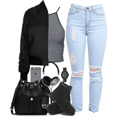 A fashion look from January 2016 featuring Estradeur tops, Topshop jackets and MICHAEL Michael Kors shoulder bags. Browse and shop related looks.