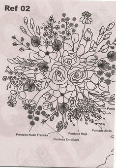 Gallery.ru / Фото #94 - Рисунки для вышивки лентами и гладью-2 - Vladikana