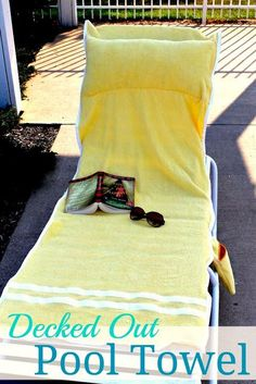 Lounge chair towel cover with pocket DIY! Yes!