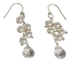 White Freshwater Cultured Pearl and Crystal Cluster Earrings in Sterling Silver Blue Breeze Jewelry http://www.amazon.com/dp/B008KF2I7A/ref=cm_sw_r_pi_dp_jVXUtb1QBCJWYR85