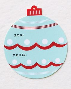 Christmas Gifts: Holiday Gift Tags and Labels - Martha Stewart Free printable