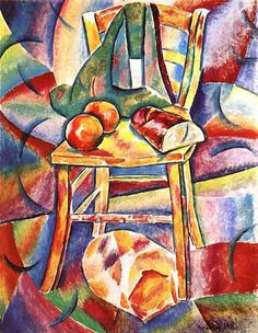 Baranov-Rossine Nature morte à la chaise (1911)