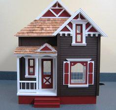 I love the colors on this dollhouse #dollhouse #miniatures