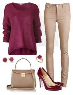Work Outfit by sindhu-aries on Polyvore featuring polyvore, fashion, style, H&M, Acne Studios, Christian Louboutin, Marc Jacobs, Effy Jewelry, Gorjana and clothing