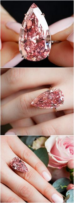the 'Unique Pink', a 15.38ct fancy vivid pink diamond. #SothebysJewels