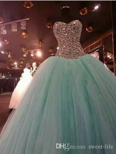 Real Image Mint Green Crystal Quinceanera Dresses Ball Gown 2016 Sweet 15 Dress Sweetheart Vestido De Festa Long Tulle Formal Prom Gowns Quinceanera Dresses Cheap Prom Dresses Online with $164.0/Piece on Sweet-life's Store | DHgate.com