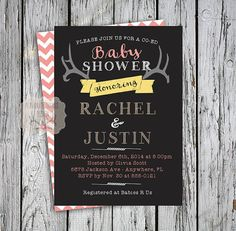 Co-Ed Baby Shower Invitation Coed Baby by FavoriteThingsDesign  Use coupon code PIN20OFF for 20 % off your order!