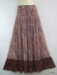 Cocktail Evening Long Maxi Skirt & Dress Brown