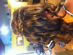 Bridesmaid hair! Love it!!