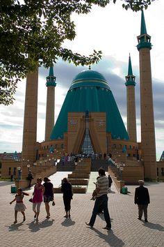 Mashkhur Jusup Central Mosque in Pavlodar, Kazakhstan... beautiful architecture... :)