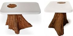 Modern Dining Tables Of Natural Logs | DigsDigs
