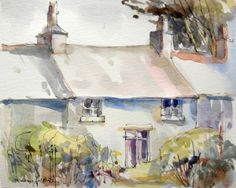 Original Water Colour and ink Painting 'Country Cottage'. Signed.