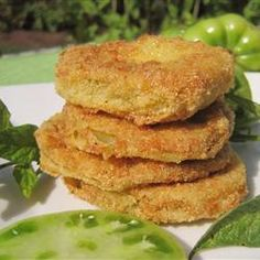 "Repined via @sabby58: ""Best Fried Green Tomatoes -- OMG!!! I couldn't believe how great these are! Why didn't I ever make these before??"""