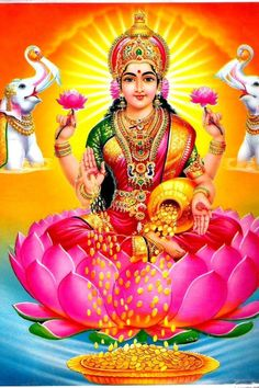 Lakshmi is the Hindu god of wealth, fortune & prosperity and also the wife of Lord Vishnu. Here is a collection of Goddess Lakshmi Images & HD wallpapers. Durga Images, Lakshmi Images, Krishna Images, Hanuman Images, Maa Image, Image Hd, Pictures Images, Images Gif, Hd Photos