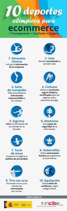 10 deportes olímpicos para tu Comercio Electrónico #infografía