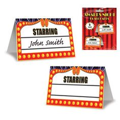 Awards Night Place Cards from Windy City Novelties