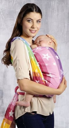 Happy Pea Uk Baby Wrap Carrier Grey 1 Size Fits All 4 In