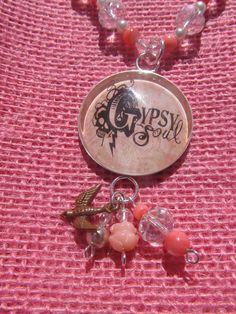 Mothers Day Gypsy Soul Pink Coral Silver and by YourLuckyPenny, $23.00 #etsy #yourluckypenny #Gypsy #gypsysoul #crystal #salmon #pink #mothersday #gift