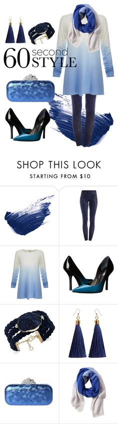 """Ice Blue Ombre"" by whatbigeyes ❤ liked on Polyvore featuring By Terry, Due., Joie, GUESS, INC International Concepts, Banana Republic, ombre and 60secondstyle"