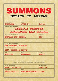 law school graduation party invitation Make Something Law