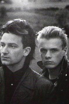 U2 ~ A young Bono & Larry