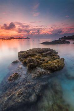 Redang Islang: A calm morning at low tide #travel