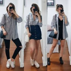 Branco e preto still/sun, 2019 летняя одежда, одежда ve корейская мода Trendy Outfits, Fall Outfits, Summer Outfits, Cute Outfits, Fashion Outfits, Fashion Tips, Elegantes Outfit, Mode Streetwear, Inspiration Mode