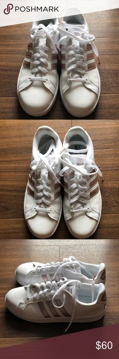 hot sale online ebd05 3ce5b Adidas rose gold shell toe classics Fresh adidas shell toes, in rose gold.  Worn