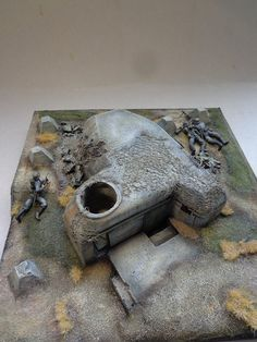 BUNKER NORMANDY Military Armor, Military Figures, Military Diorama, Ww2 Pictures, Model Hobbies, Wargaming Terrain, Military Modelling, Fortification, True Art