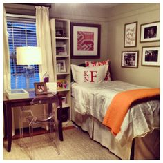 A very adorable dorm room/room in a chapter house!