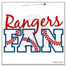 139 Baseball : Rangers Fan Applique 6x10