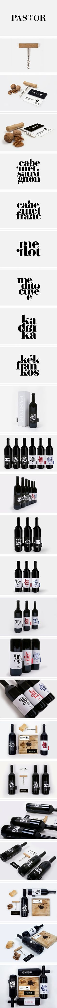 Pastor winery identity and branding