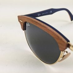 Brand new RayBans! New original Ray Ban RB 3016M 1180/R5 51 Clubmaster Wood Cherry Rubber Blue! Ray-Ban Accessories Sunglasses