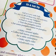 Fit and fab tip of the week! Fall in love with fall!  #kit #keepingittogether #kitlife #kit2014 #fitandfabtip