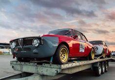 Alfa Romeo couple on trailer