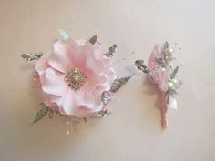 Wrist corsage and boutonniere