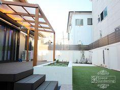 庭 シンプル テラス屋根 タカショー ポーチテラス Master Bath, Terrace, Diy And Crafts, Gardening, Balcony, Patio, Lawn And Garden, Decks, Outdoor Cafe