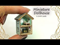 Dollhouse for Dolls; Miniature Dollhouse Tutorial - YouTube