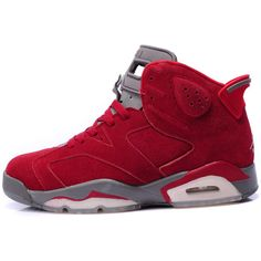 4940f4dd12 Air Jordan VI Anti-Fur Red ($65) ❤ liked on Polyvore featuring sneakers