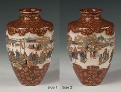 Satsuma baluster vase - Kinkozan - Meiji Period