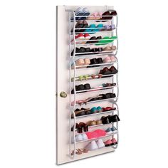 Hanging Organizer Rack 36 pair Shoe Storage Over Door Space Saver Holder