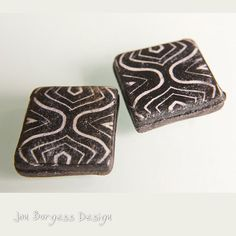 Africa pattern beads 2 Tribal beads Square by JBDRusticOrganic