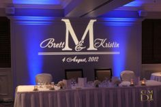 We recently added this #monogram design to our catalog! Check out #rentmywedding for a #customgobo for $99 + free shipping nationwide.